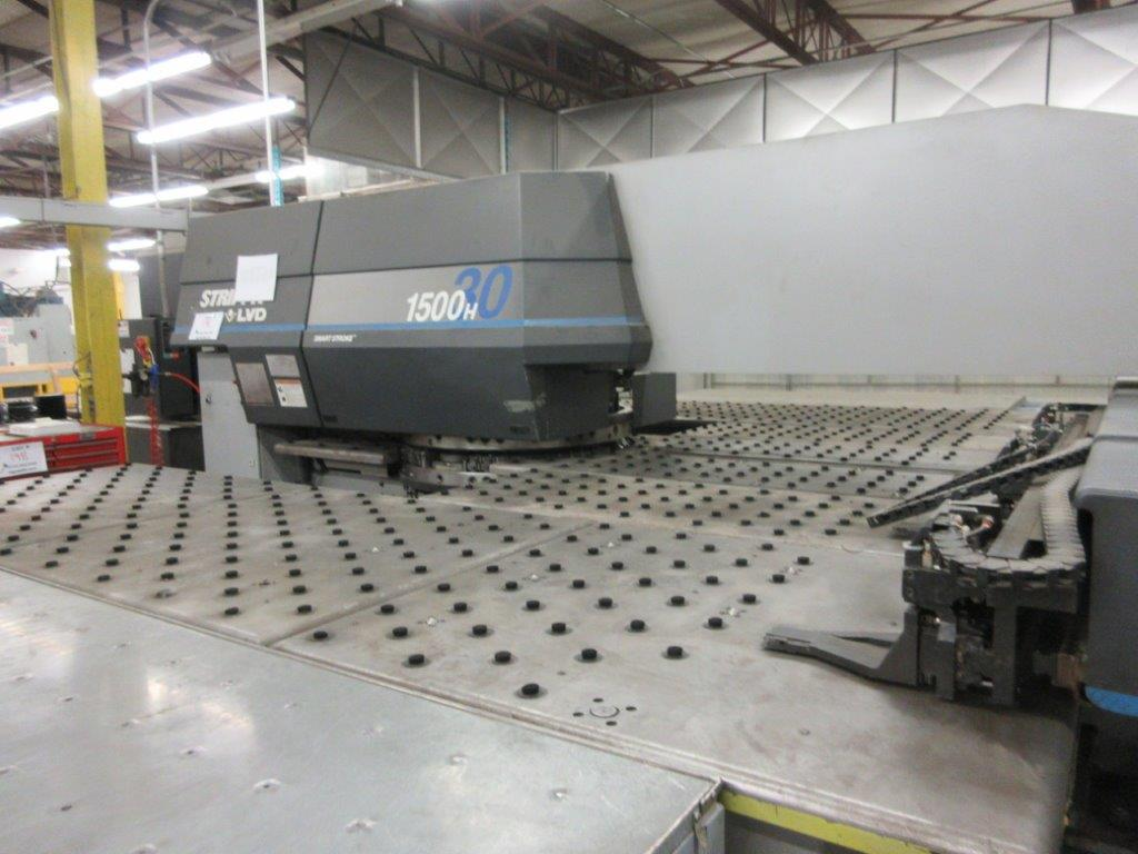 STRIPPIT Turret punch press (2001) , 30 Ton, Mod: 1500 H-30, 8ft large, air table system, - Image 5 of 17