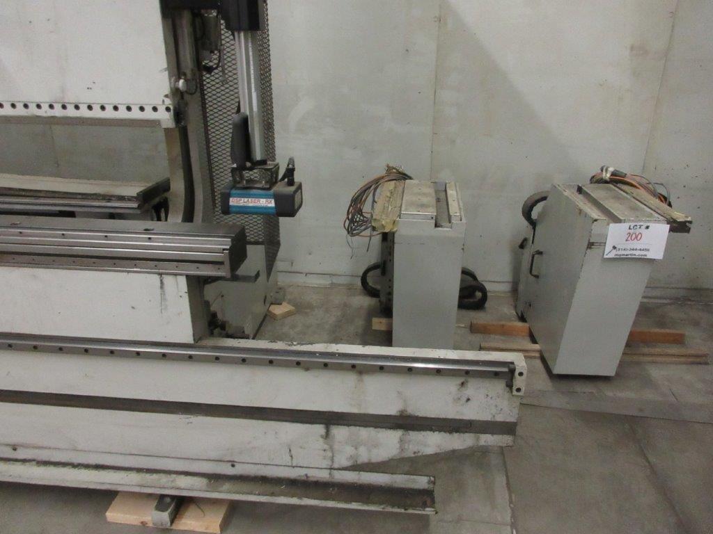 STRIPPIT LVD press brake (1999) type PPEB 135/42 max cap: 1350, 575 volts, 60 hz , 135 Ton, 14ft, - Image 7 of 11