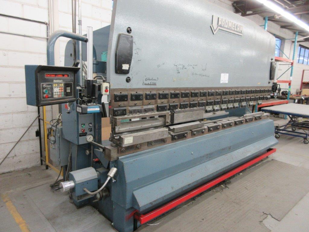 PROMECAM Press brake w/t DSP Laser-Rx Cap:150 Ton Imperial, 12ft, Mod RG 154, Laser, 6ft back guage, - Image 2 of 11