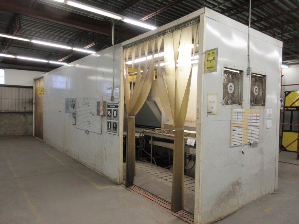 Acid washing chamber (8ft w x 33 ft l x 10 ft h approx), including electric hoist 1/2 Ton and 20 - Image 8 of 11