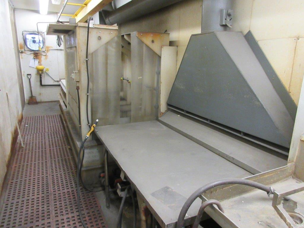 Acid washing chamber (8ft w x 33 ft l x 10 ft h approx), including electric hoist 1/2 Ton and 20 - Image 2 of 11