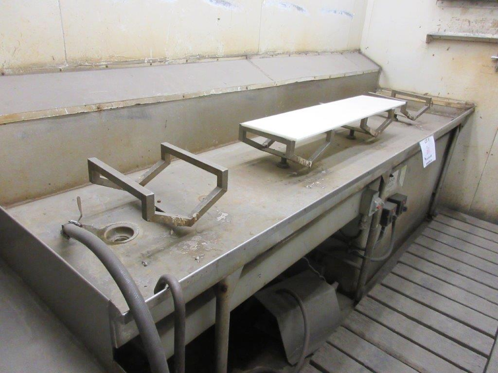 Acid washing chamber (8ft w x 33 ft l x 10 ft h approx), including electric hoist 1/2 Ton and 20 - Image 7 of 11