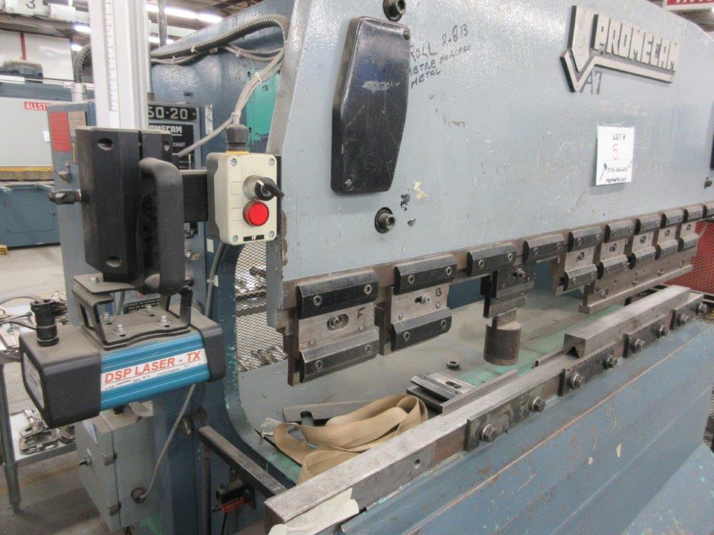PROMECAM Press brake Cap: 50 Ton, Mod: RG50-20, 6ft, laser - Image 3 of 6