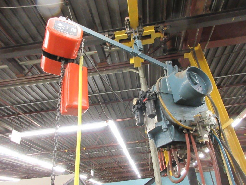 MCCARTHY soldering system 75 KVA, 550 V, w/t JET electric hoist 1/2 Ton - Image 2 of 6