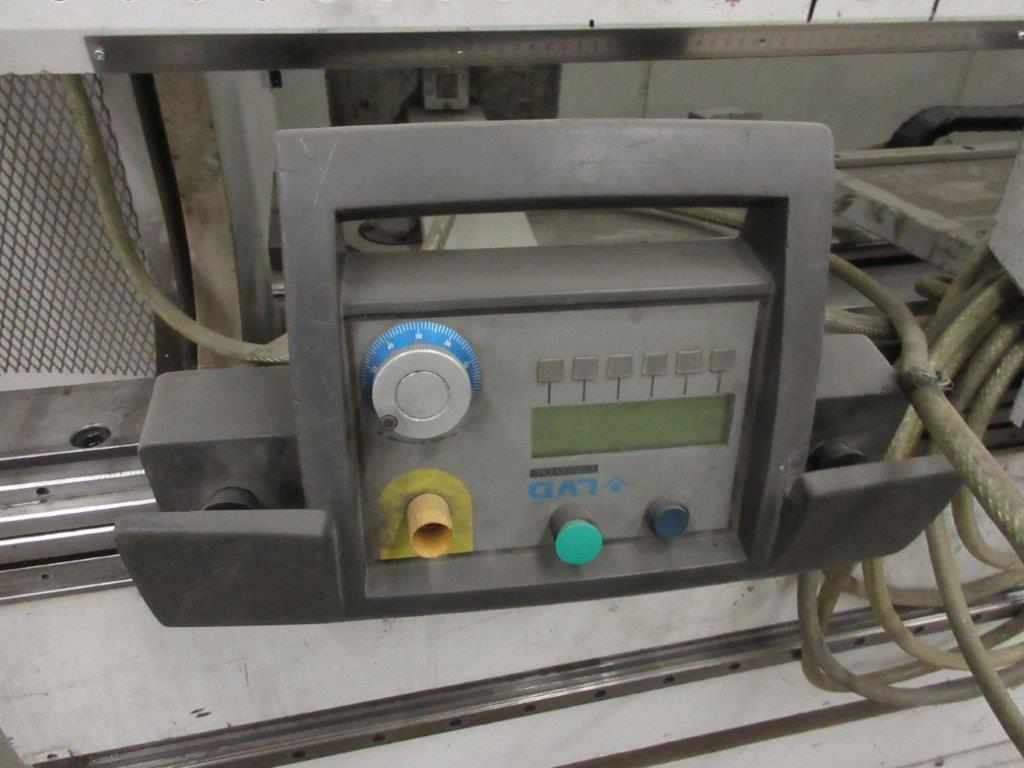 STRIPPIT LVD press brake (1999) type PPEB 135/42 max cap: 1350, 575 volts, 60 hz , 135 Ton, 14ft, - Image 4 of 11
