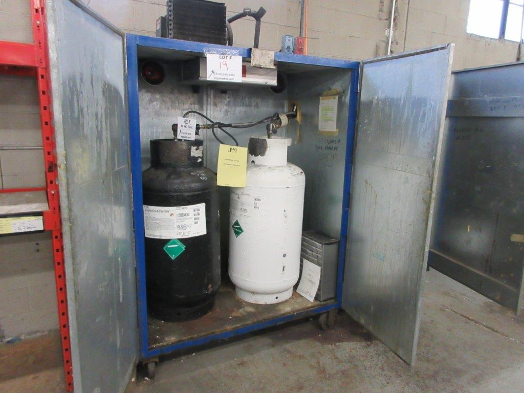 Polyurethane distributing system w/t cabinet + gun, timer, rack, mixer, cleaning system, air & water - Image 4 of 8