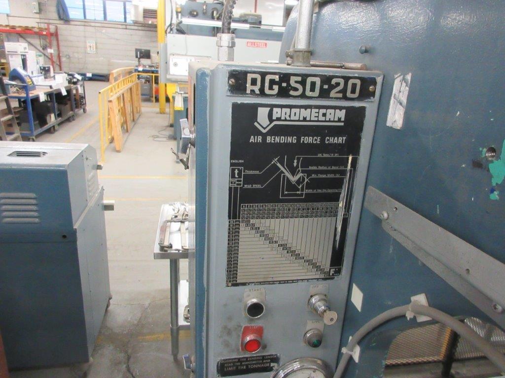 PROMECAM Press brake Cap: 50 Ton, Mod: RG50-20, 6ft, laser - Image 4 of 6