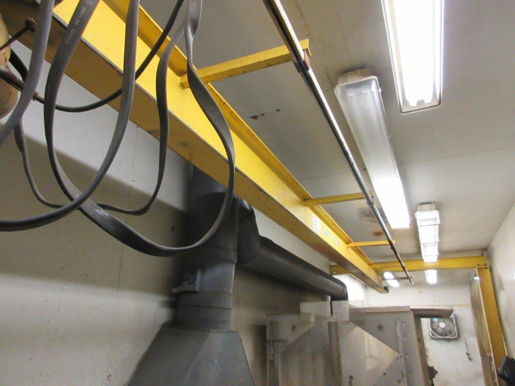 Acid washing chamber (8ft w x 33 ft l x 10 ft h approx), including electric hoist 1/2 Ton and 20 - Image 5 of 11