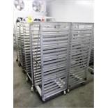 (10) assorted aluminum tray carts