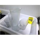 assorted plastic measuring cups