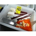 assorted baking spatulas, etc.