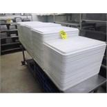 white plastic trays