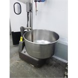 rotating bowl dough mixer, 36 in. dia. x 19 in. deep