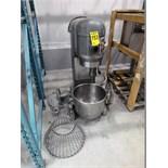 Hobart planetary mixer, mod. H800T, ser. no. 1279952, 80 qtrs.., 1 hp, 230V, c/w accessories