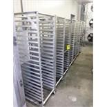 (9) aluminum tray carts
