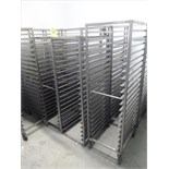 (9) s/s tray carts (some casters missing)