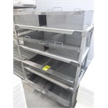 (8) perforated s/s baskets