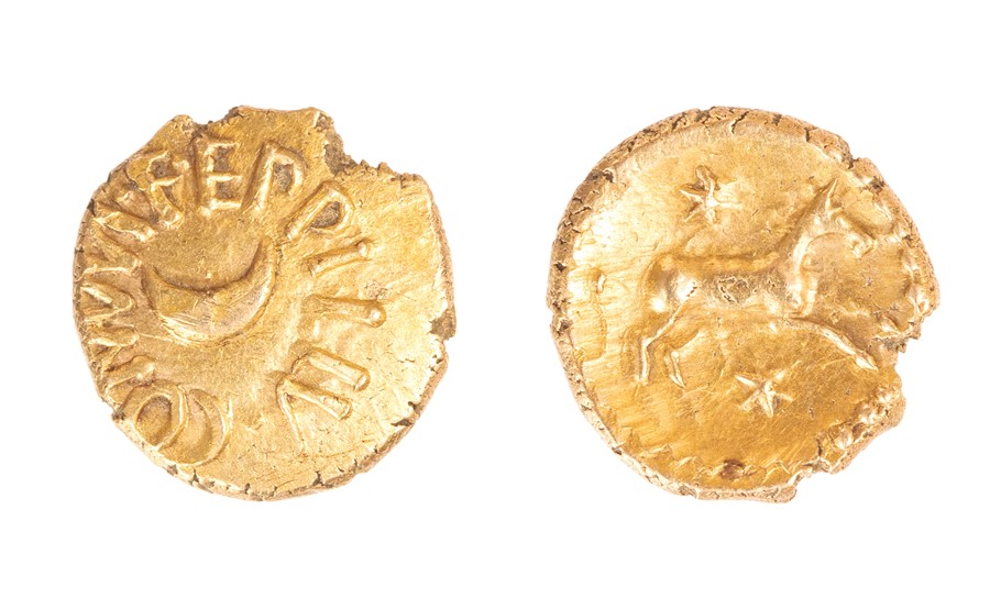 Lot 8 - An inscribed gold quarter stater of the Southern Region/Atrebates and Regni, struck under