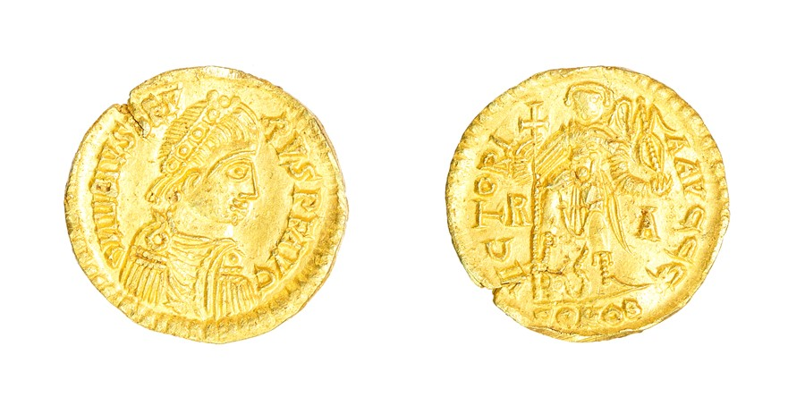 Lot 40 - A gold Visigothic solidus struck in the name of Libius Severus/Severus III (AD 461-465), dating to