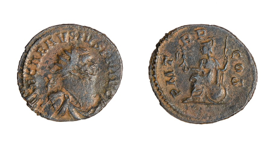 Lot 34 - A copper-alloy radiate of the Britannic Emperor Carausius (AD 286-293) dating to c. AD 286-293.