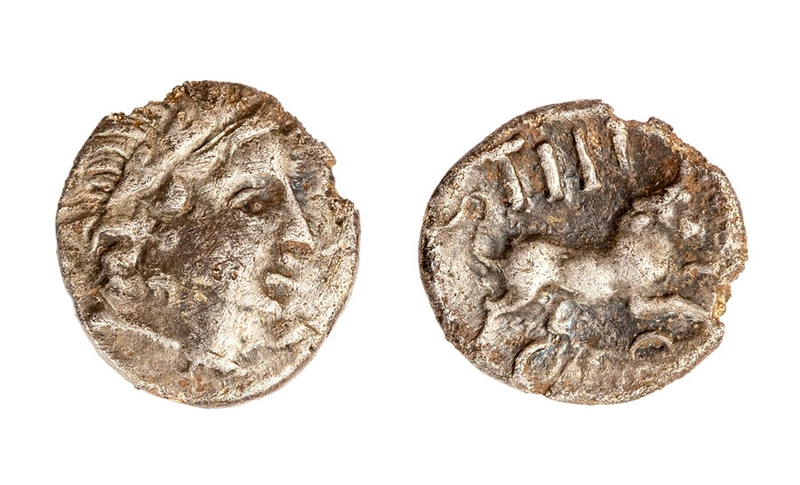 Lot 26 - A silver unit of the Southern Region/Regni and Atrebates, struck under Tincomarus (c. 25 BC- AD 10).