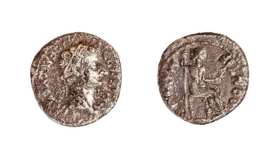 Lot 39 - A silver denarius struck for Tiberius (AD 14-37) dating to c. AD 14-37. Obverse: [TI CAE]SAR DIVI