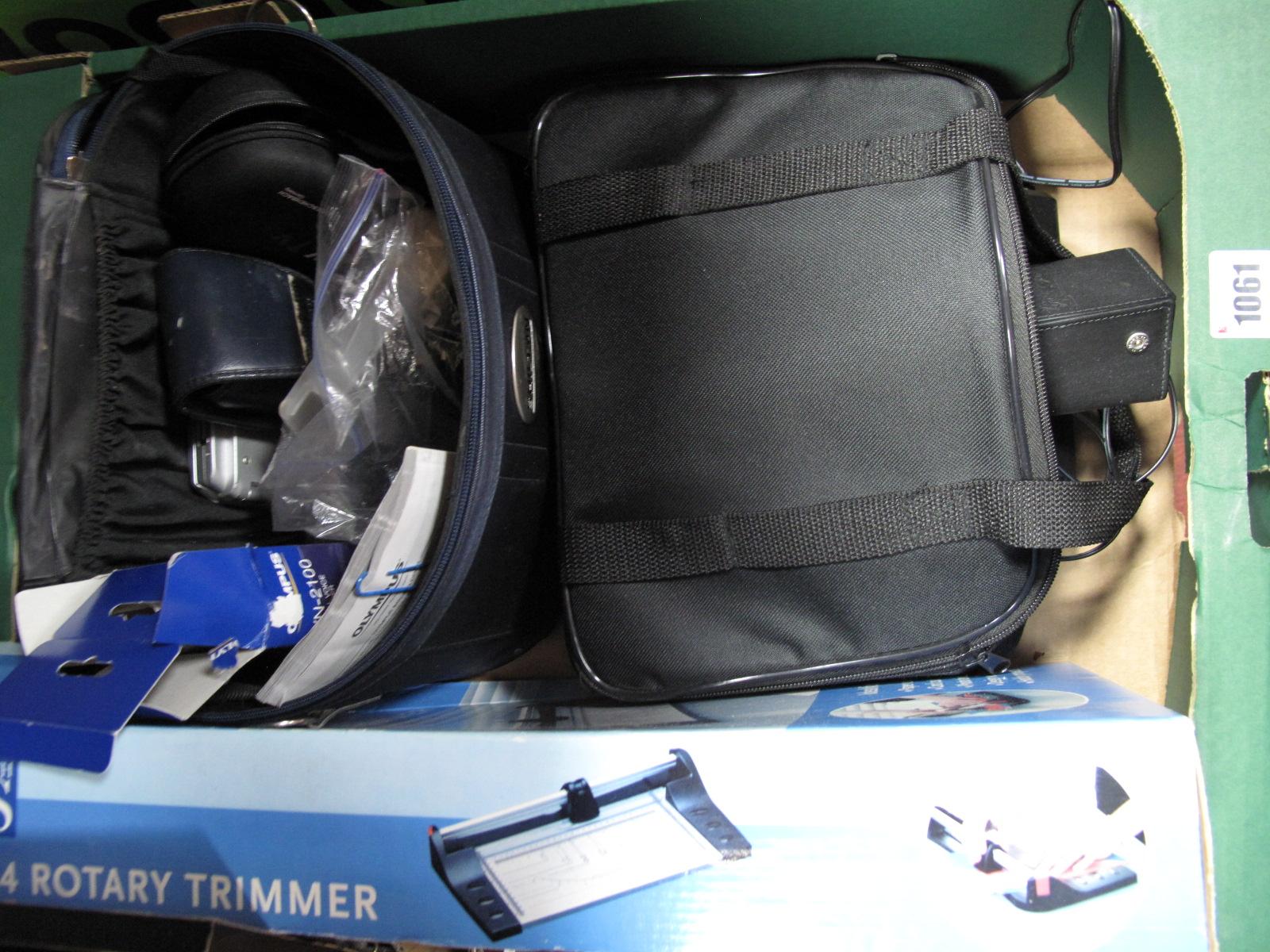 Lot 1061 - A Proline DVD Video Player, Olympus camera, binoculars, etc.