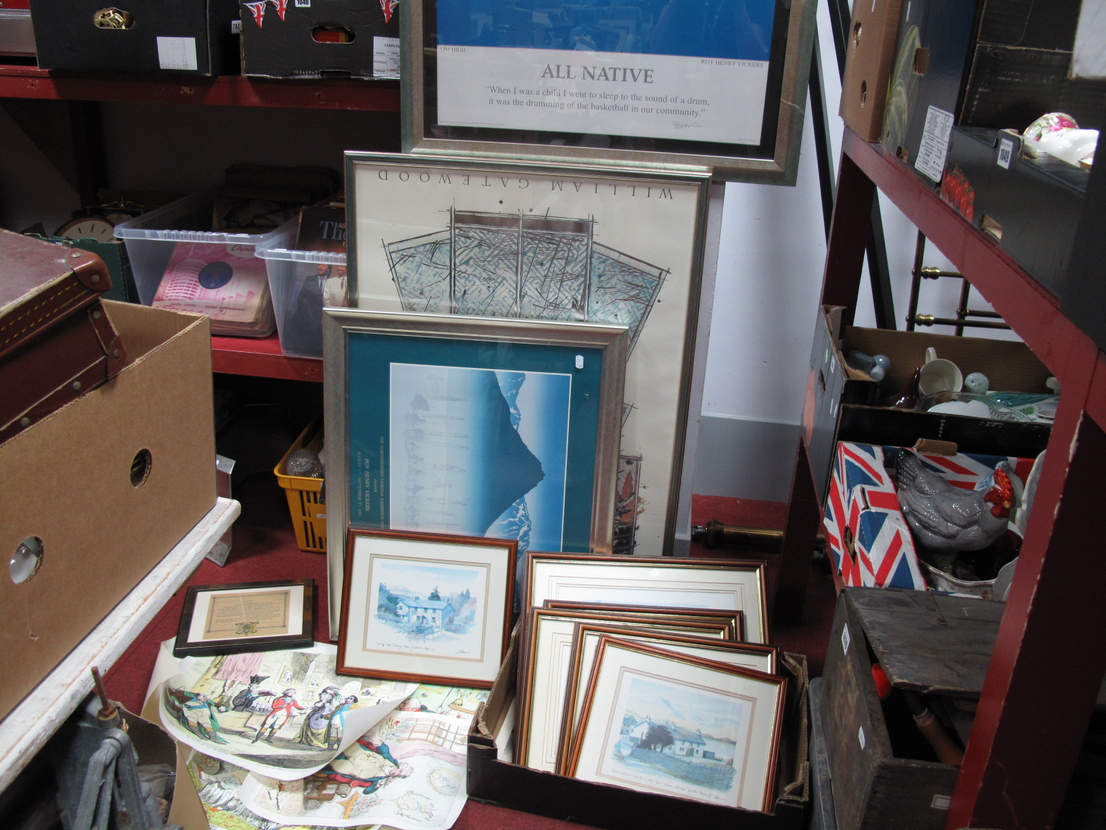Lot 1047 - Limited Edition Gillvray Coloured Prints, XIX Century coastal etchings, engravings, a 1919