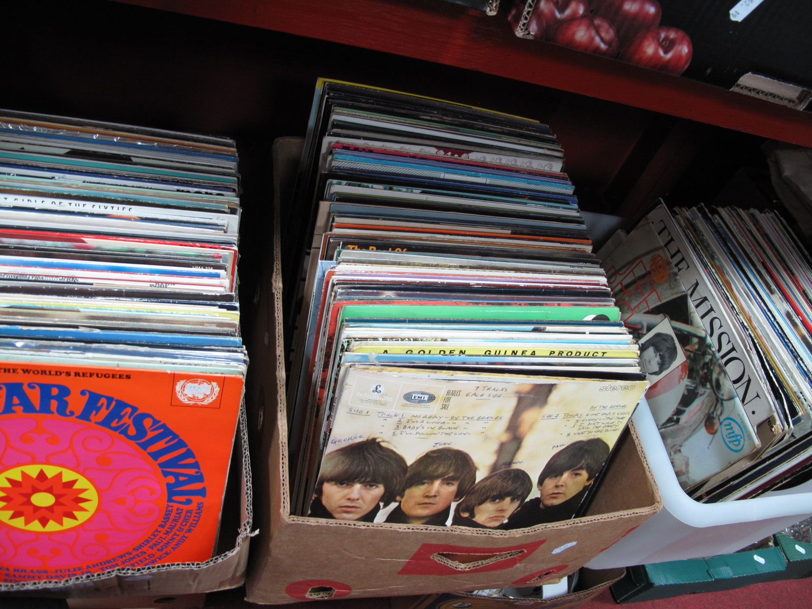 Lot 1021 - A Quantity of L.P's, (mostly 1960's and later) to include Beatles, Jeff Beck, The Mission, Four