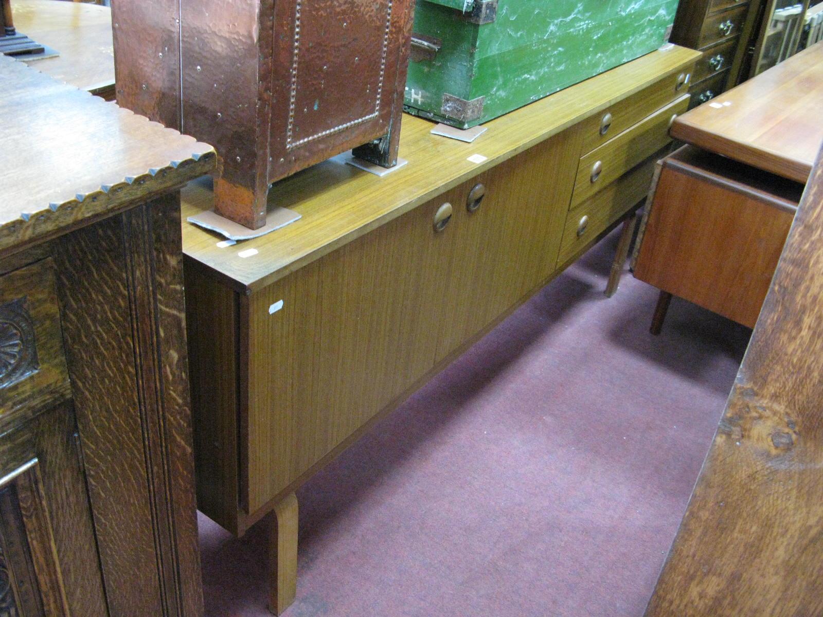 Lot 1513 - A Schreiber Teak Effect Sideboard, 174cm wide.