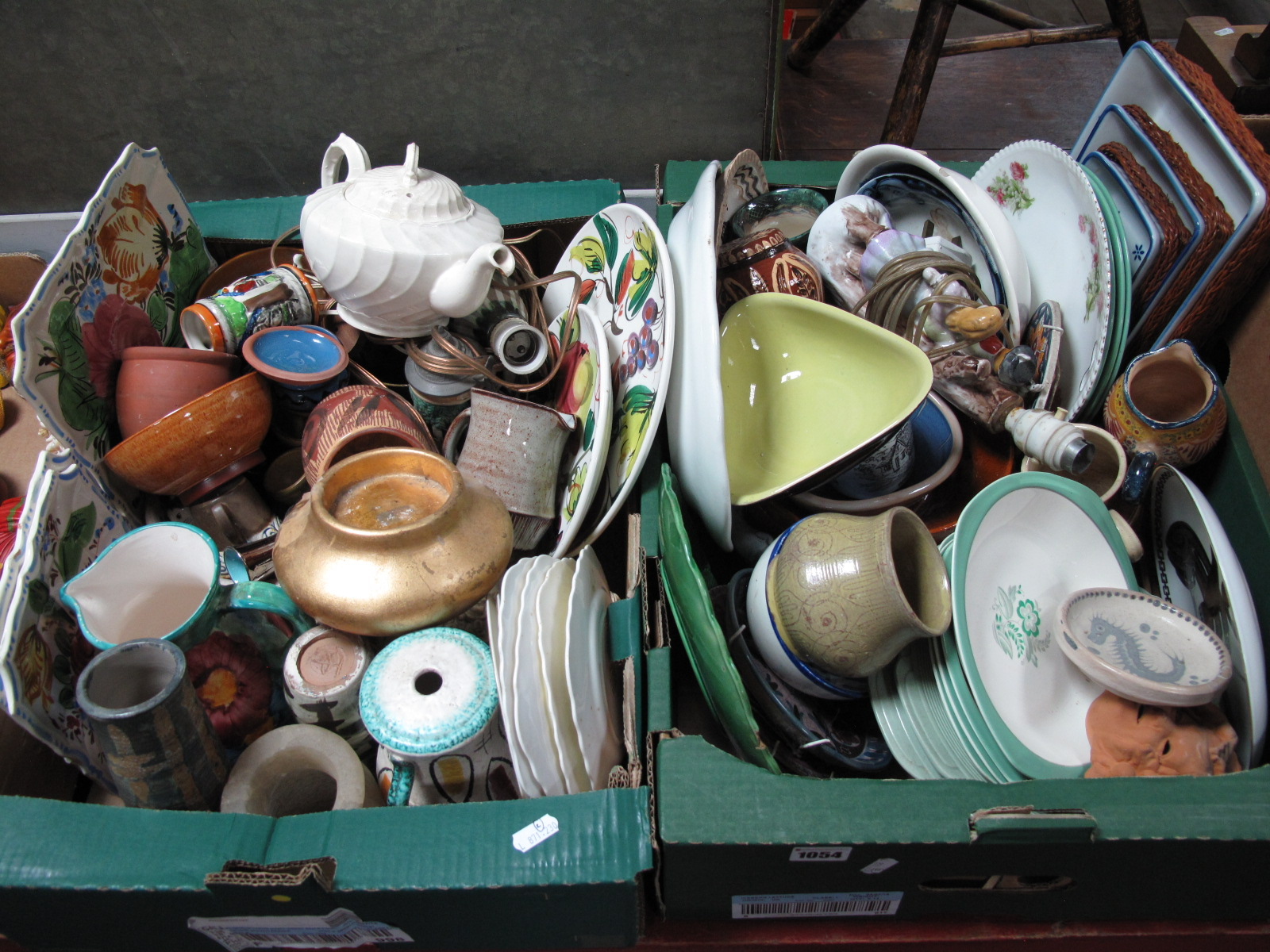 Lot 1054 - Midwinter Stylecraft Tableware, Langley triform dish, Beethoven bust etc:- Two Boxes