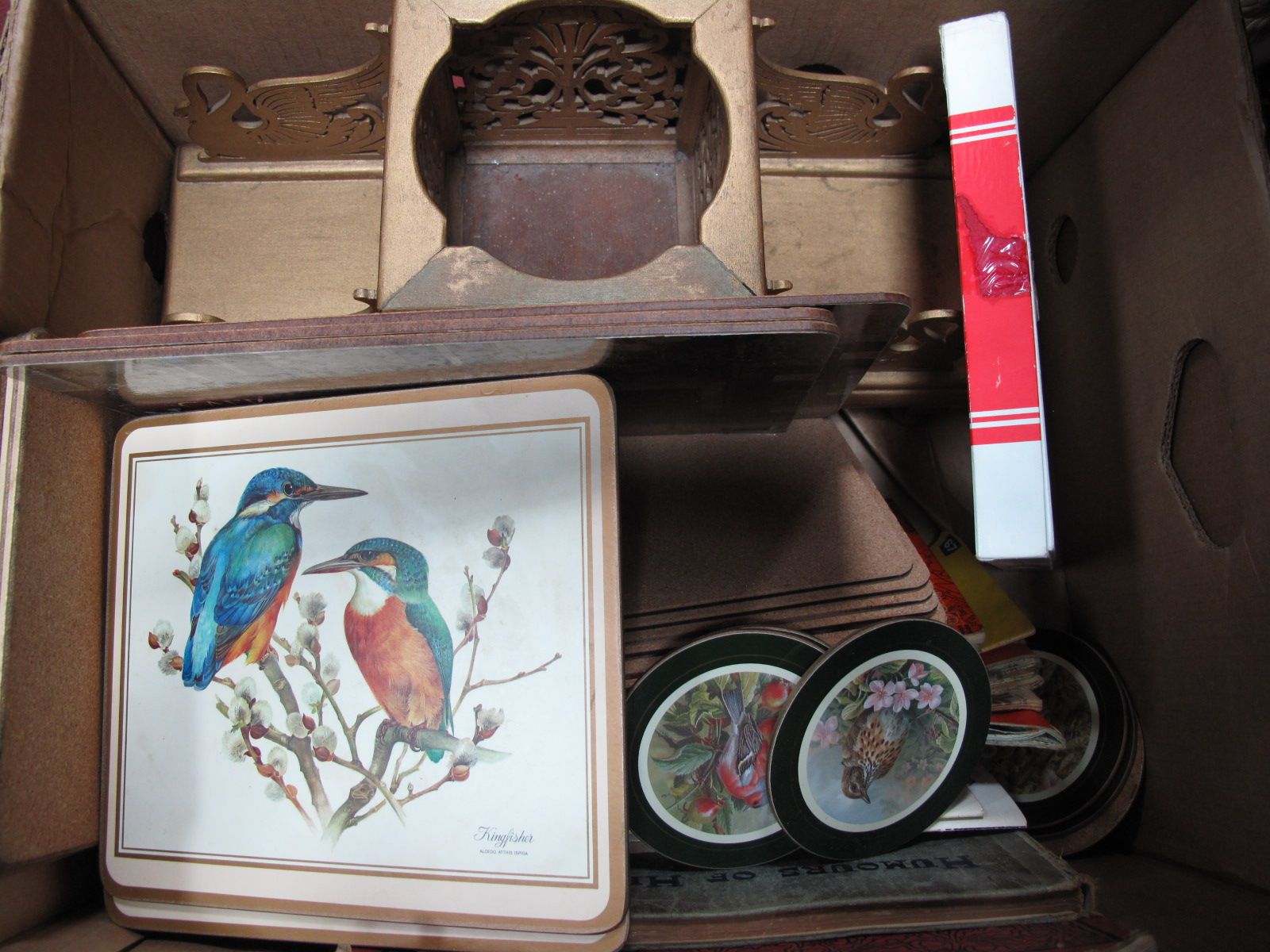 Lot 1019 - Donald Duck and Other Novelty Money Boxes, barometer, Eastern carvings, maps, etc:- Two Boxes