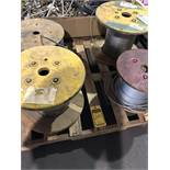 PALLET OF (4) SPOOLS BRAIDED SAFETY AND LIFT CABLE