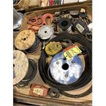(4) 2-TON CABLE HOOK BLOCKBUSTER, GD - (2) HOOKS, (3) SWIVEL TOOLS, AND (5) ASSORTED SPOOL OF LINE