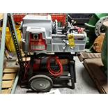 """RIDGID PIPE 535 THREADER, 1/8'' TO 2"""" PIPE, 1/4"""" TO 2"""" BOLT, VARIOUS DIES, FOOTSWITCH"""