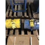 (2) 200 LB. CAPACITY PORTABLE ELECTRIC CABLE HOISTS; Z BALANCE & AMERICAN BRANDS