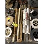(4) PALLETS OF ASSORTED WELDING WIRE, WELDING RODS, WELDING ROD ELECTRODES, TWIN LINE HOSE, GROUND