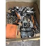 LARGE ASSORTMENT OF CLAMPS, CHAIN BRAKES, MISC. PULLERS, FLARE KITS, BANDINGCRIMPER, SERVO POWER