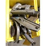 (2) PNEUMATIC STAPLES GUN, (2) PNEUMATIC NIBBLERS, PNEUMATIC ANGLE GRINDER