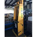 """LIFT-RITE H-I ELECTRIC MATERIAL LIFT, 2,000 LB. CAPACITYON 24"""" CENTER, 12V, 2-STAGE MAST, 7'3"""""""