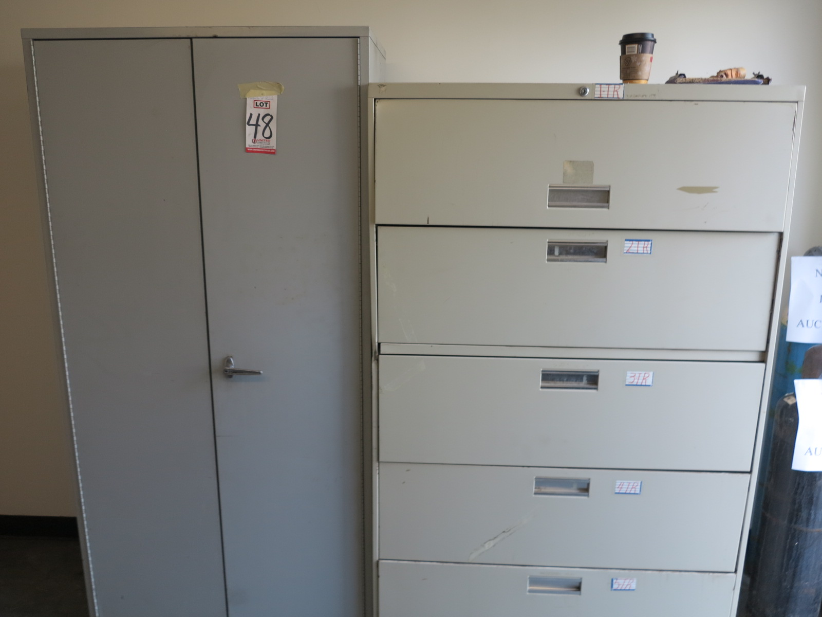 LOT - CONTENTS OF ROOM, TO INCLUDE: REFRIGERATOR, DESK, ALL FILE AND STORAGE CABINETS AND NORDIC - Image 2 of 3