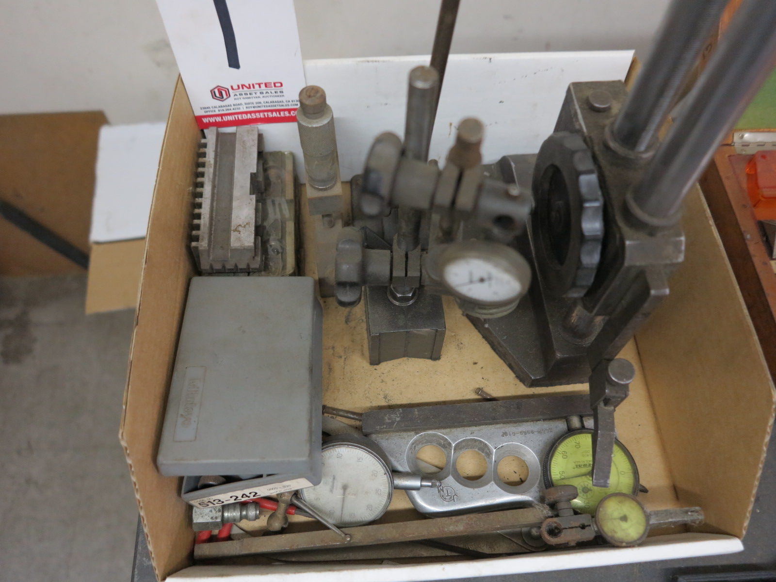 LOT - MISC INSPECTION ITEMS, TO INCLUDE: CHUCK JAWS, DIAL INDICATORS, ETC. - Image 2 of 2