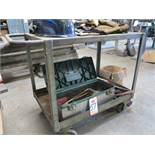 LOT - (2) STEEL SHOP CARTS, CONTENTS NOT INCLUDED