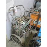 OXY-ACETYLENE TORCH CART, W/ MULTIPLE TORCHES, HOSE, REGULATORS, ETC.