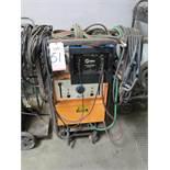 AIRCO 250 AMP AC/DC HELIWELDER, STOCK NO. 1341-0160, S/N HG006554, W/ MILLER RADIATOR-1 COOLING