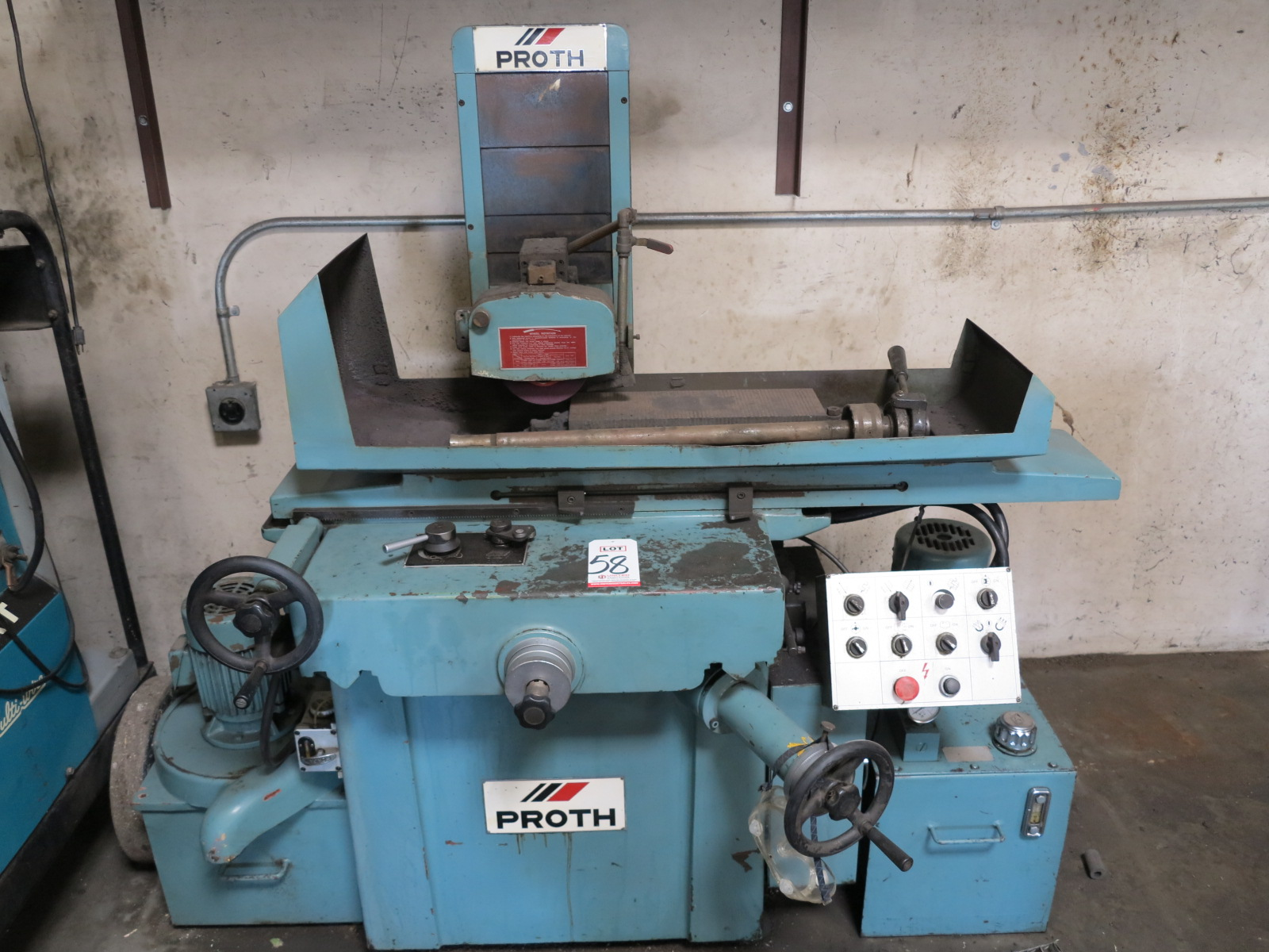 """1983 PROTH SURFACE GRINDER, MODEL PSG-2550AH, S/N 30468-2, W/ 6"""" X 18"""" MAGNETIC CHUCK"""