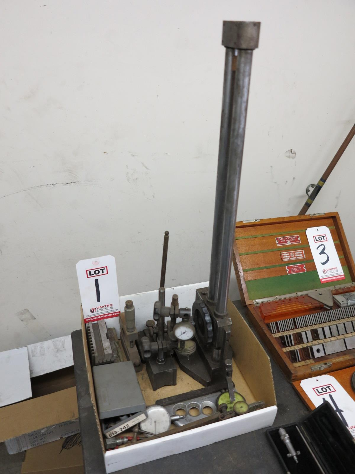 LOT - MISC INSPECTION ITEMS, TO INCLUDE: CHUCK JAWS, DIAL INDICATORS, ETC.