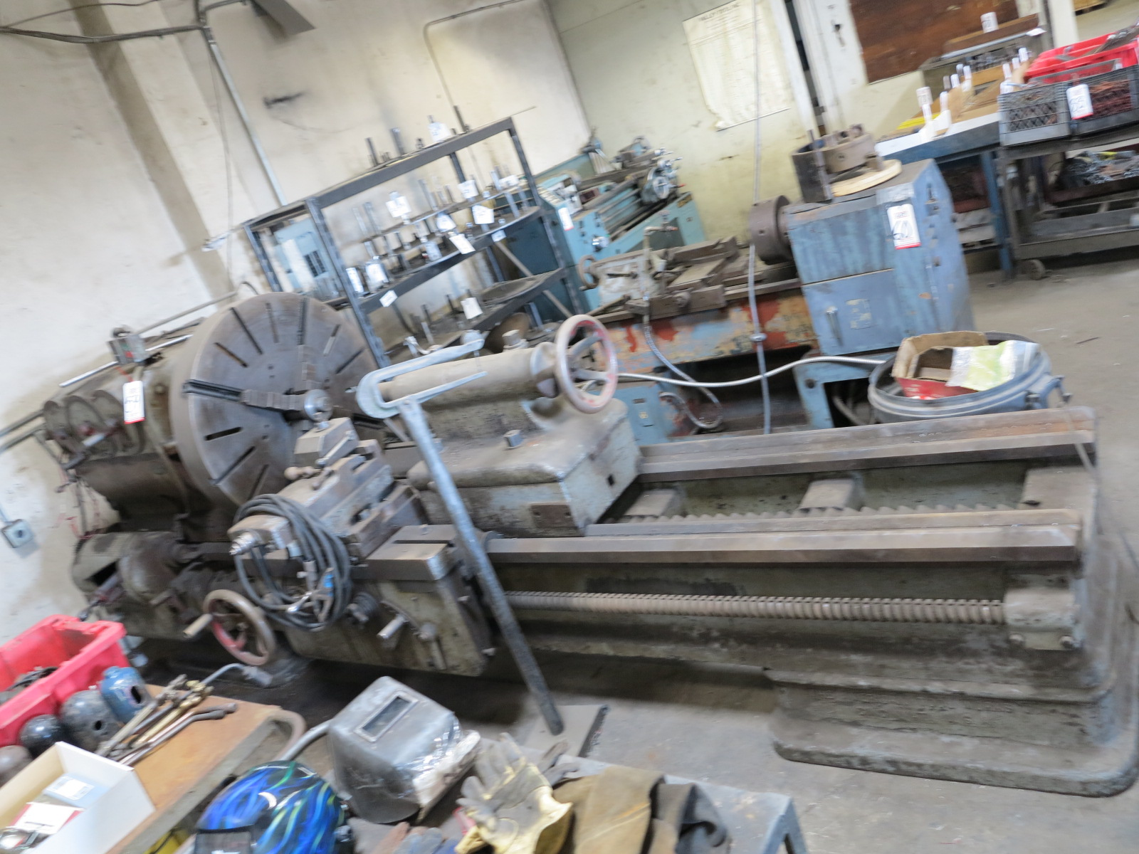 """AMERICAN TOOLWORKS 36"""" LATHE, 4-JAW CHUCK, S/N 7836"""