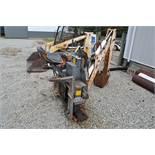 """Bobcat / Clark 909 skidloader backhoe, 12"""" bucket, SN 6561138-M-1885"""