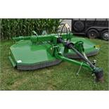 10' John Deere HX10 rotary mower, pull type, 540 pto, front & rear chains, hyd lift, stump jumpers